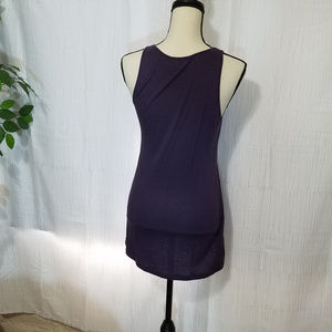 Lilly Lou Tops - LILLY LOU PURPLE BEADED TANK TOP SIZE SMALL